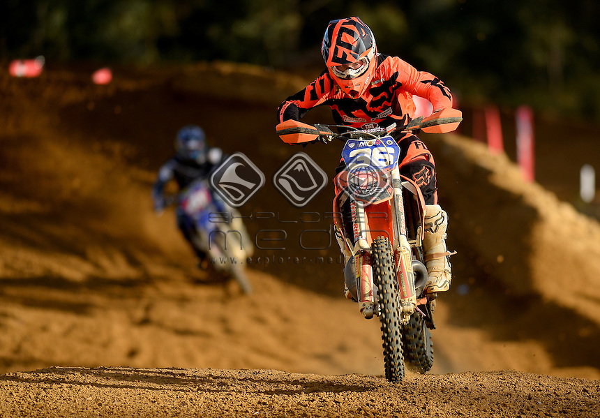 Jayden Rykers / KTM  1st - Overall<br /> 2015 MX Nationals / Round 8 / MXD<br /> Australian Motocross Championships<br /> Nowra NSW 2 August 2015<br /> &copy; Sport the library / Jeff Crow