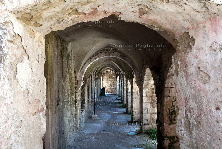 Italia, Isole Tremiti.<br /> Isola di San Nicola, l'Abbazia.<br /> Italy, Tremiti islands.<br /> San Nicola island, The Abbey.
