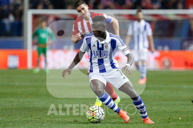 Real Sociedad´s Bruma during 2015-16 La Liga match between Atletico de Madrid and Real Sociedad at Vicente Calderon stadium in Madrid, Spain. March 01, 2016. (ALTERPHOTOS/Victor Blanco)