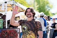 Cotton District Arts Festival - Super Bulldog Weekend. Artist booth - Joe MacGown.<br />  (photo by Megan Bean / &copy; Mississippi State University)