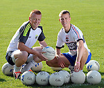 SPORT: ALL-IRELAND FOOTBALL SEMI-FINAL PREVIEW: Kerry captain Fionn Fitzgerald, right and Johnny Buckley pictured at this weeks training session at Fitzgerald Stadium, Killarney.<br /> Picture by Don MacMonagle