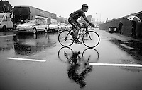 Alex Dowsett (GBR) off to a wet start<br /> <br /> 2013 Tour of Britain<br /> stage 5: Machynlleth to Caerphilly (177km)