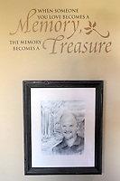 A drawing of Eric Jacobs is the centerpiece of Heather Jacobs' living room, where she and their five children honor his memory.  Eric died in a plane crash in 2006 when Heather was eight months pregnant with their youngest child, Ella.