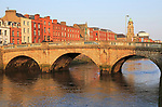 Mellows Bridge crossing River Liffey, city of Dublin, Ireland, Irish Republic built 1760s