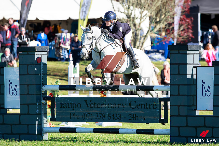 Vicky Browne-Cole rides Eli to take fourth place during the Fiber Fresh CCI1* Championsip Showjumping at the 2017 NZL-NRM National Three Day Event Championships. National Equestrian Center, Taupo. Sunday 14 May. Copyright Photo: Libby Law Photography