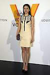 """April 21, 2016, Tokyo, Japan - Japanese actress Masami Nagasawa smiles during a photo call for the reception of Louis Vuitton's art exhibition in Tokyo on Thursday, April 21, 2016. French luxury barnd Luis Vuitton will hold the exhibition """"Volez, Voguez, Voyagez"""" in Tokyo from April 23 through June 19.  (Photo by Yoshio Tsunoda/AFLO) LWX -ytd-"""
