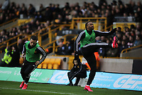 Adama Traore of Wolverhampton Wanderers warming up during Wolverhampton Wanderers vs Brighton & Hove Albion, Premier League Football at Molineux on 7th March 2020