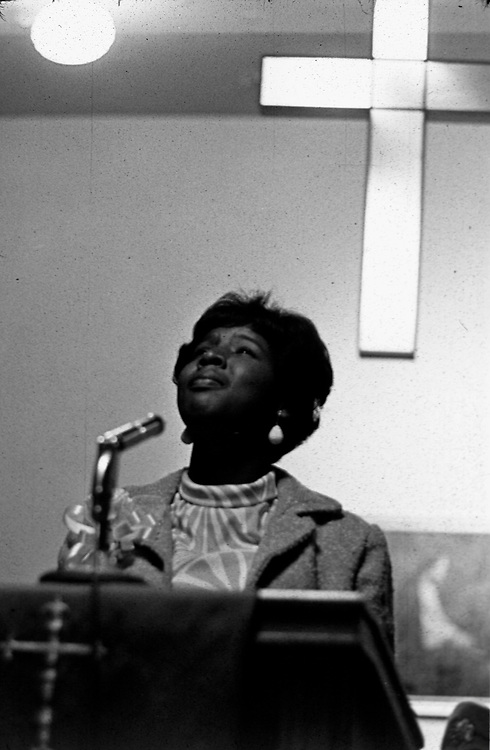 A gospel solo at Dexter Ave. Baptist Church, in Montgomery, Alabama. This and over 10,000 other images are part of the Jim Peppler Collection at The Alabama Department of Archives and History:  http://digital.archives.alabama.gov/cdm4/peppler.php