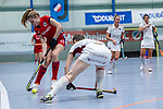 Mannheim, Germany, December 01: During the Bundesliga indoor women hockey match between Mannheimer HC and Nuernberger HTC on December 1, 2019 at Irma-Roechling-Halle in Mannheim, Germany. Final score 7-1. (Copyright Dirk Markgraf / 265-images.com) *** Lisa Mayerhoefer #17 of Mannheimer HC