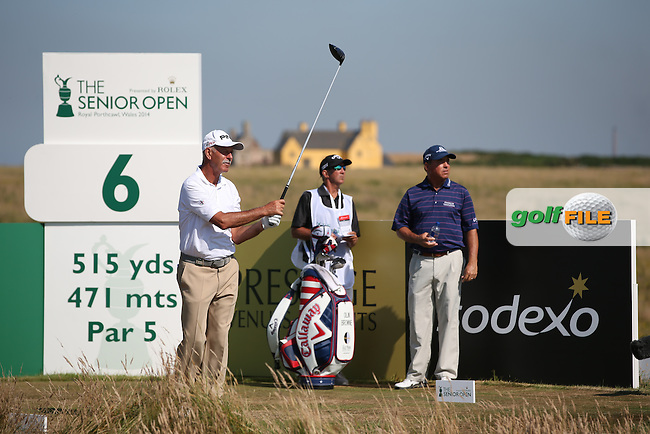 Mark James (ENG) during Round Two of the 2014 Senior Open Championship presented by Rolex from Royal Porthcawl Golf Club, Porthcawl, Wales. Picture:  David Lloyd / www.golffile.ie