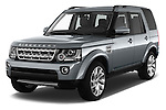 2016 Land Rover Discovery HSE 5 Door Suv Angular Front stock photos of front three quarter view