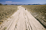 Dusty road to Lunar Lake near Lunar Crater, Nev.