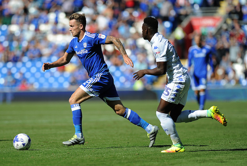 Cardiff City's Joe Ralls in action during todays match  <br /> <br /> Photographer Ashley Crowden/CameraSport<br /> <br /> The EFL Sky Bet Championship - Cardiff City v Leeds United - Saturday 17 September 2016 - Cardiff City Stadium - Cardiff<br /> <br /> World Copyright &copy; 2016 CameraSport. All rights reserved. 43 Linden Ave. Countesthorpe. Leicester. England. LE8 5PG - Tel: +44 (0) 116 277 4147 - admin@camerasport.com - www.camerasport.com