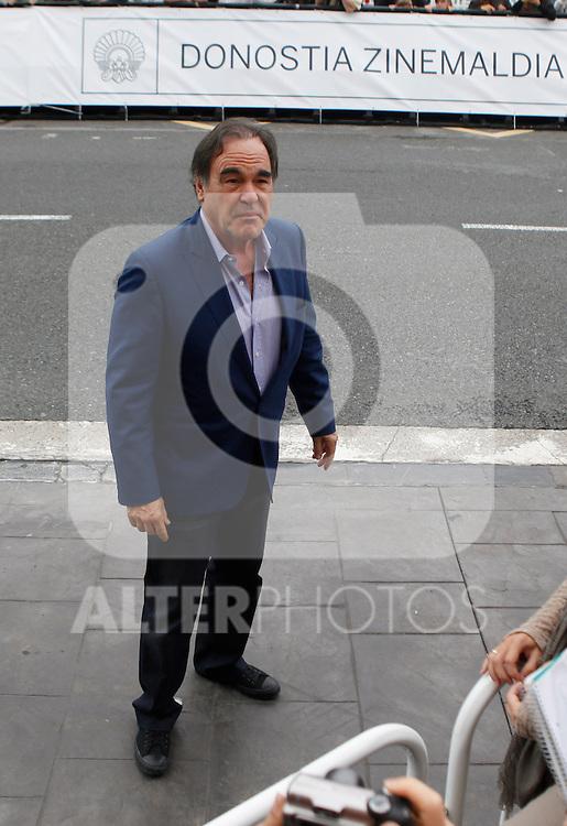 Director Oliver Stone arrives to Maria Cristina Hotel to attend the 61 San Sebastian Film Festival, in San Sebastian, Spain. September 20, 2013. (ALTERPHOTOS/Victor Blanco)