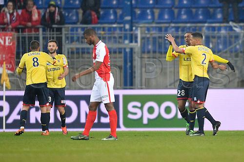 10.01.2017. Stade Bonal, Montbéliard, France. French League cup football, Sochaux versus Monaco. Faneva ANDRIATSIMA (soc) celebrates his goal