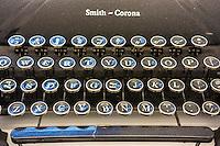 Close-up of the keys of a Smith-Corona brand manual typewriter on Saturday, October 11, 2014. (© Richard B. Levine)