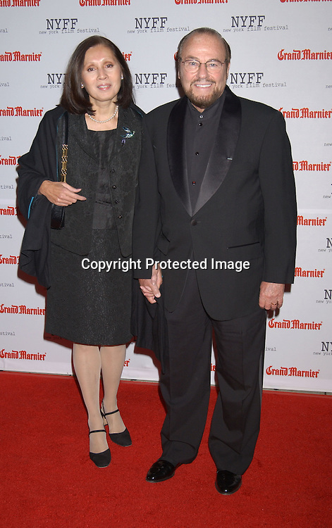 """..James Lipton and wife..arriving at the opening of the 41st New York Film Festival ..screening of """" Mystic River"""" on October 3, 2003 in New York City. Photo By Robin Platzer, Twin Images"""