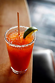 USA, California, Oakland, Chop Bar, Michelada, housemade bloody mary mix, bohemia beer, spice, salt on rim