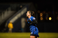 Seattle, WA - Thursday, March, 08, 2018: Kiersten Dallstream during a preseason match between the Seattle Reign FC and University of Washington at Husky Soccer Stadium.