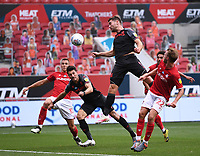 15th July 2020; Ashton Gate Stadium, Bristol, England; English Football League Championship Football, Bristol City versus Stoke City; Sam Vokes of Stoke City heads home a goal in the 62nd minute for 1-1