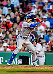 22 June 2019: Toronto Blue Jays second baseman Cavan Biggio at bat in the 8th inning against the Boston Red Sox at Fenway :Park in Boston, MA. The Blue Jays rallied to defeat the Red Sox 8-7 in the 2nd game of their 3-game series. Mandatory Credit: Ed Wolfstein Photo *** RAW (NEF) Image File Available ***
