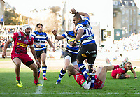 Aled Brew of Bath Rugby in possession. Aviva Premiership match, between Bath Rugby and Harlequins on November 25, 2017 at the Recreation Ground in Bath, England. Photo by: Patrick Khachfe / Onside Images