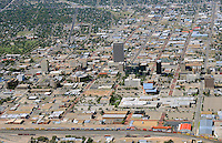 Amarillo Texas downtown aerial.  Sept 29, 2013. 84076