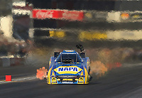 Nov 10, 2018; Pomona, CA, USA; NHRA funny car driver Ron Capps during qualifying for the Auto Club Finals at Auto Club Raceway. Mandatory Credit: Mark J. Rebilas-USA TODAY Sports