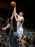 David Kravish of California shoots the ball during the game against Washington at Haas Pavilion in Berkeley, California on January 9th, 2013.   Washington defeated California, 62-47.