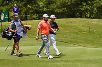 Tyrrell Hatton (ENG) and Chez Reavie (USA) head down 10 during round 4 of the WGC FedEx St. Jude Invitational, TPC Southwind, Memphis, Tennessee, USA. 7/28/2019.<br /> Picture Ken Murray / Golffile.ie<br /> <br /> All photo usage must carry mandatory copyright credit (© Golffile | Ken Murray)