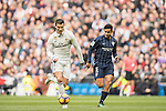Cristiano Ronaldo (l) of Real Madrid fights for the ball with Roberto Rosales of Malaga CF during their La Liga 2016-17 match between Real Madrid and Malaga CF at the Estadio Santiago Bernabéu on 21 January 2017 in Madrid, Spain. Photo by Diego Gonzalez Souto / Power Sport Images