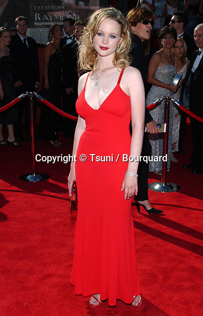 Thora Birch arriving at the 55th Annual Emmy Awards at the Shrine Auditorium in Los Angeles. September 21, 2003.