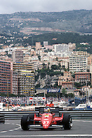 MONTE CARLO - JUNE 3: Michele Alboreto drives his Ferrari F126C4 076/Ferrari 031 through La Rasscasse hairpin corner during practice for the Monaco Grand Prix on June 3, 1984, at the Circuit de Monaco in Monte Carlo, Monaco.