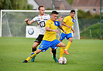 2018-07-11 / Voetbal / Seizoen 2018-2019 / Union Saint-Gilloise - KV Mechelen / Alexander Corryn (l. KVM) met Marcel Mehlem<br /> <br /> ,Foto: Mpics