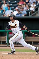Mark Saccomanno (7) of the Jacksonville Suns during a game vs. the Carolina Mudcats May 31 2010 at Baseball Grounds of Jacksonville in Jacksonville, Florida. Jacksonville won the game against Carolina by the score of 3-2. Photo By Scott Jontes/Four Seam Images