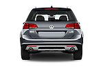 Straight rear view of 2017 Volkswagen Golf-Alltrack SEL 5 Door Wagon Rear View  stock images