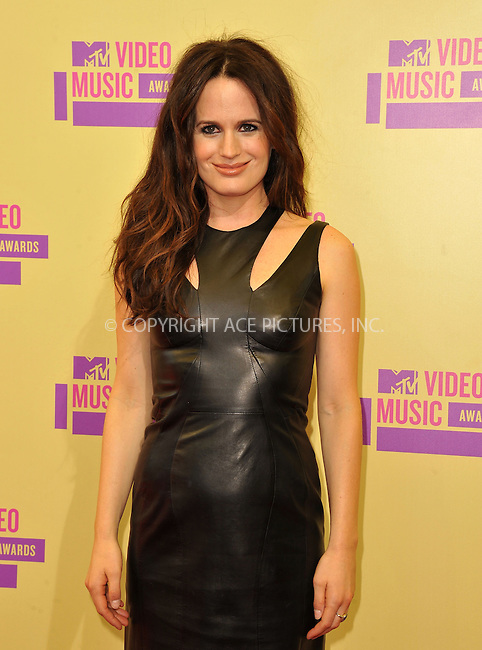 WWW.ACEPIXS.COM....September 6, 2012, Los Angeles, CA.......Elizabeth Reeser arriving at the 2012 MTV Video Awards at the Staples Center on September 6, 2012 in Los Angeles, California. ..........By Line: Peter West/ACE Pictures....ACE Pictures, Inc..Tel: 646 769 0430..Email: info@acepixs.com