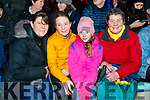 Michelle, Grainne and Sinead Byrne with Mary O'Sullivan Darcy, Killarney, supporting Kerry at the Kerry v Dublin, Allianz National League at Austin Stack Park, Tralee on Saturday night last.