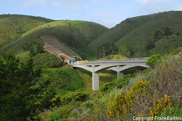 Bridge at north end of Devil's Slide bypass tunnel