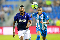 Malaga CF's Youssef En-Nesyri (r) and SS Lazio's Wallace during XXXIII Costa del Sol Trophy. August 5,2017. (ALTERPHOTOS/Acero) /NortePhoto.com