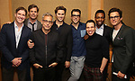 Brian Hutchison, Tuc Watkins, Joe Mantello, Andrew Rannells, Zachary Quinto, Robin De Jesus, Michael Benjamin Washington and Matt Bomer attend Broadway's 'Boys in the Band' hosted Midnight Performance of 'Three Tall Women' to Honor Director Joe Mantello at the Golden Theatre on May 17, 2018 in New York City.