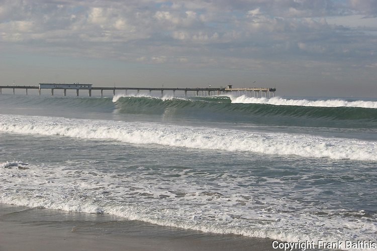winter swell at Pacific Beach