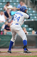 Durham Bulls outfielder Leslie Anderson #24 during a game against the Rochester Red Wings at Frontier Field on July 18, 2011 in Rochester, New York.  Durham defeated Rochester 4-1.  (Mike Janes/Four Seam Images)