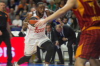 Real Madrid´s Kevin Rivers during 2014-15 Euroleague Basketball match between Real Madrid and Galatasaray at Palacio de los Deportes stadium in Madrid, Spain. January 08, 2015. (ALTERPHOTOS/Luis Fernandez) /NortePhoto /NortePhoto.com