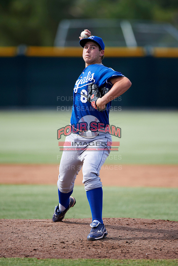 Kansas City Royals minor league pitcher Jake Newberry #84 during an instructional league game against the San Francisco Giants at the Giants Baseball Complex on October 18, 2012 in Scottsdale, Arizona. (Mike Janes/Four Seam Images)