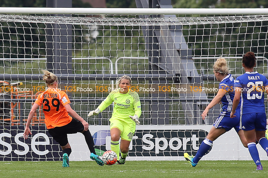 Jo Wilson scores London Bees second goal during London Bees vs Chelsea Ladies, FA WSL Continental Cup Football at the Hive Stadium on 2nd July 2016