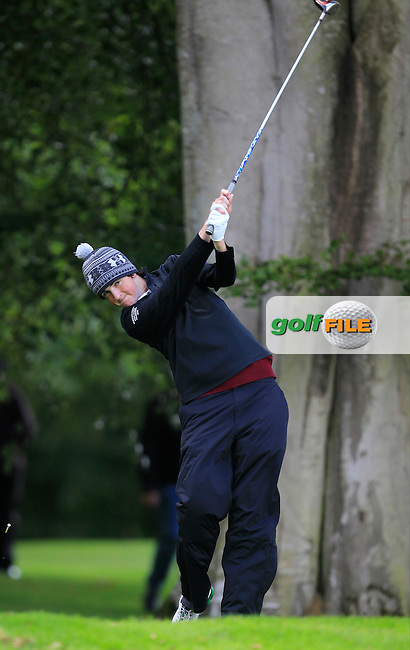 Senan Carroll (Ballybunion) on the 9th tee in the Junior Cup during the AIG Cups &amp; Shields Finals in Royal Tara Golf Club on Wednesday 18th September 2013.<br /> Picture:  Thos Caffrey / www.golffile.ie