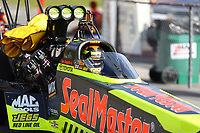 Jun 16, 2017; Bristol, TN, USA; NHRA top fuel driver Troy Coughlin Jr during qualifying for the Thunder Valley Nationals at Bristol Dragway. Mandatory Credit: Mark J. Rebilas-USA TODAY Sports