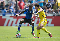 Santa Clara, California - April 13, 2014: The San Jose Earthquakes face off against the Columbus Crew at Buck Shaw Stadium on Sunday