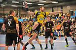 Rhein Neckar Loewe Hendrik Pekeler (Nr.23) beim Wurf beim Spiel in der Handball Champions League, Rhein Neckar Loewen - HBC Nantes.<br /> <br /> Foto &copy; PIX-Sportfotos *** Foto ist honorarpflichtig! *** Auf Anfrage in hoeherer Qualitaet/Aufloesung. Belegexemplar erbeten. Veroeffentlichung ausschliesslich fuer journalistisch-publizistische Zwecke. For editorial use only.